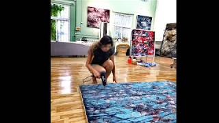 Soraya Sikander paints with Chinese Master Bill Zhao Xu (Beijing, 2019)