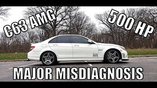 I Just Bought A Crazy Cheap C63 AMG Because The Seller Thought The Engine Was Bad. Fixed It For $150