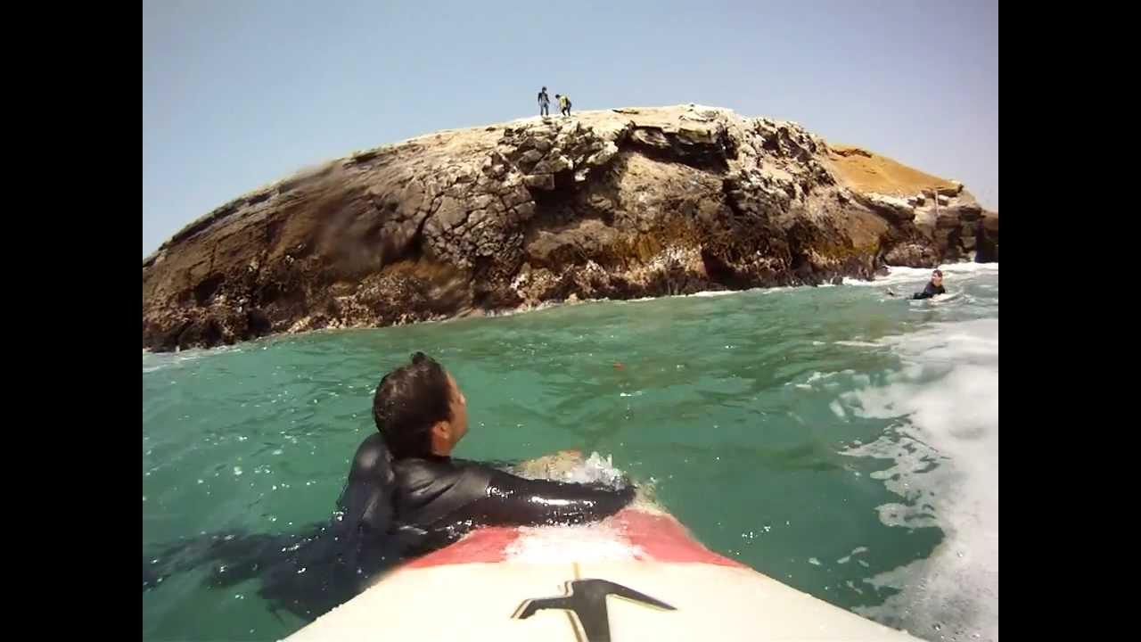 salto cerro de la isla punta hermosa peru youtube
