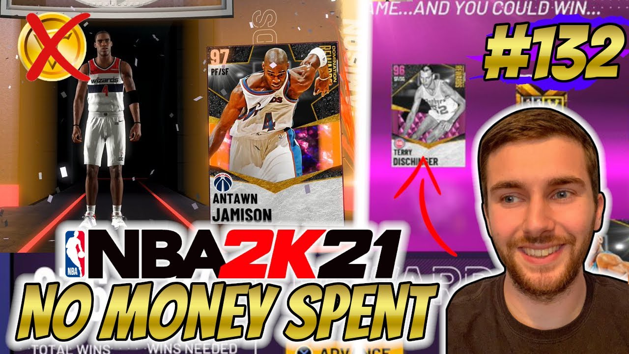 NBA 2K21 MYTEAM WE GOT GALAXY OPAL ANTAWN JAMISON + BEST REWARD CARD EVER?! | NO MONEY SPENT #131