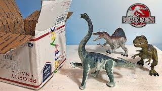 a-box-of-jurassic-park-3-dinosaur-toys-action-figures-t-rex-spinosaurus-brachiosaurus