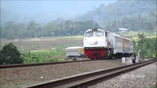 Kereta Api Kutojaya Utara Melintas di Petak Karanggandul - Purwokerto