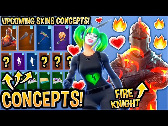 *NEW* TOP 30 Fortnite Skins Concepts..! *POSSIBLY COMING!*(Fire Knight, Festivus Panda, Season 8...)