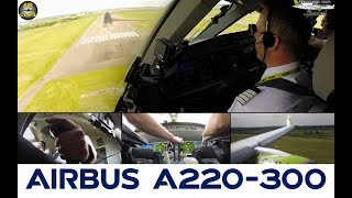JUST A MUST PLANES: Airbus A220-300 (CS300) ULTIMATE COCKPIT MOVIE  [AirClips full flight series]