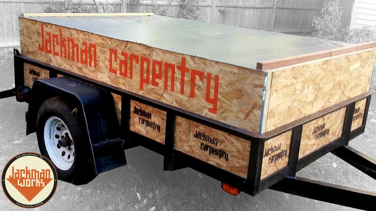 Customized Utility Trailer Sides And Cover Youtube