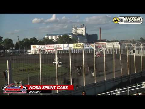 Buffalo Wild Wings NOSA Sprint Cars - July 7, 2017 - River Cities Speedway - Makeup Feature
