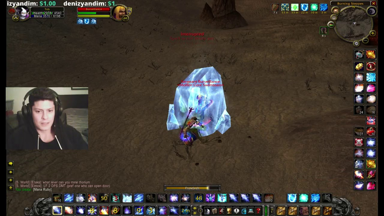 WoW Vanilla mage Light's hope / Lightbringer - how to wand instead of r1  frostbolt ofc