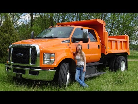 Ford F650 dump truck mountain drive, part two with Kent and Kelsey