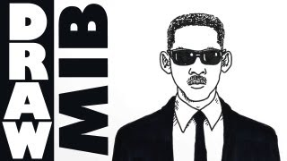 Draw Will Smith - the Man In Black