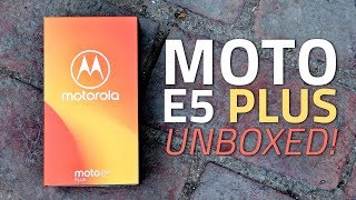 Moto E5 Plus Unboxing and First Look | Price, Specs, Camera, and More