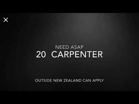 New Zealand Job Hire 20 Carpenter As Of August 13 2019