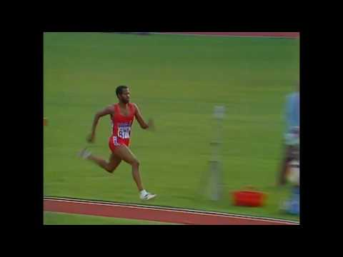 The first world Championships in athletics. Finland. Helsinki 1983. Triple jump. Banks W. USA
