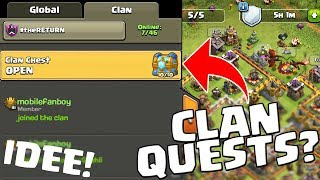 CLAN QUESTS BEI CLASH OF CLANS?! || Super Idee! || Let's Play CoC [Deutsch German]