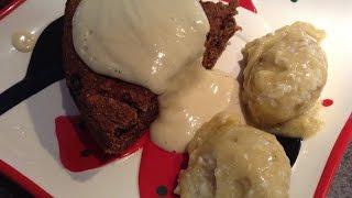 Vegan Christmas Cake With Raw Cashew Mango Sauce & Raw Ice Cream