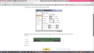 MS Excel Exam Tutorial on Odesk