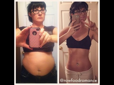 Raw Vegan Weight Loss Before After Transformation