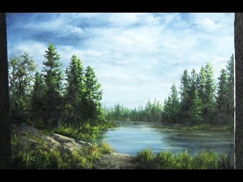 Oil Painting | Forest lake | Paint with Kevin Hill
