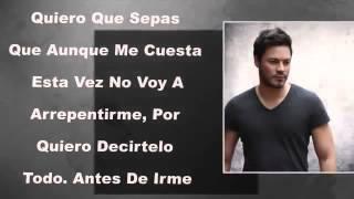 Antes De Irme-Felipe Santos