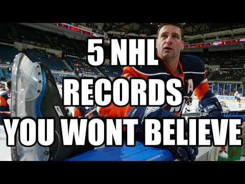 5 NHL Records YOU WONT BELIEVE (Fastest Hat Trick, Worst NHL Season)