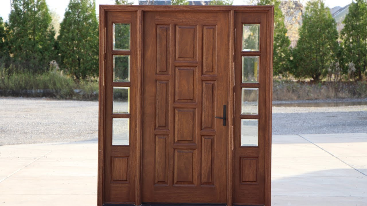 Front Door with Side Windows Design Ideas - YouTube