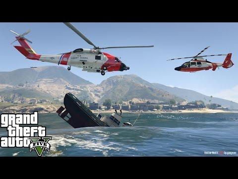 GTA 5   Rescue Mod V   United States Coast Guard   HH-60J Jayhawk & MH-65C Dolphin   Failed Rescue