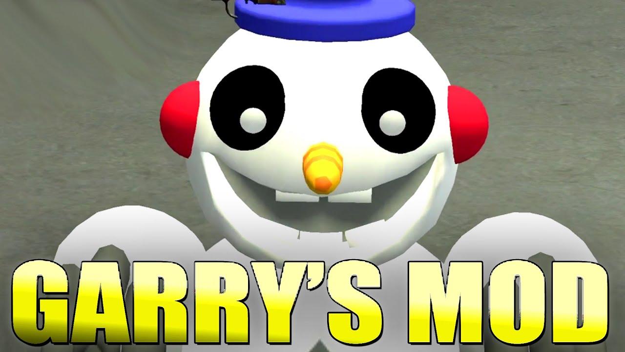 Fnaf world snowman gmod five nights at freddy s snowcone mod garry