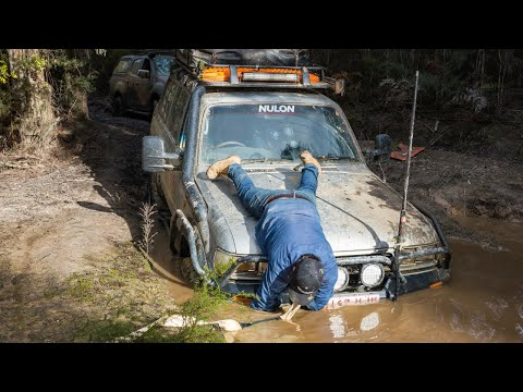 THE 4WD SHORTCUT FROM HELL – 4 days in the mud, Bush mechanic fixes, winching into the night