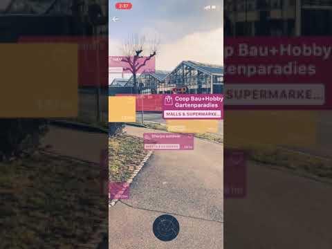Virtlo - Augmented Reality iPhone Offline Travel app in Switzerland