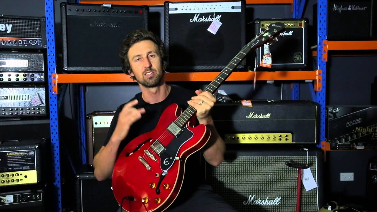 epiphone dot 60 second review youtube