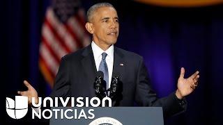 Obama aboga por los inmigrantes y defiende el Obamacare en su último discurso como presidente
