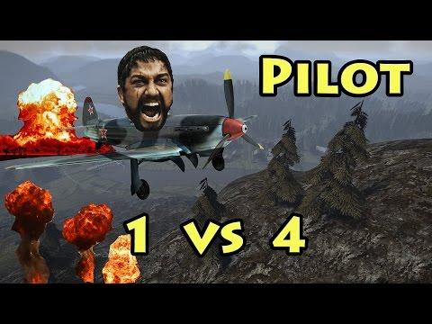 Pilot 1 VS 4 - Heroes & Generals