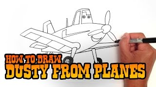 How to Draw Dusty from Planes - Step by Step Video