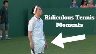 HD Ridiculous Tennis Moments (Djokovic,Nadal,Federer,Ivanovic,Murray,Monfils)