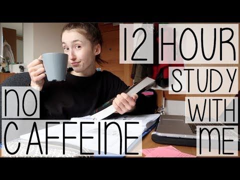 BUSY UNIVERSITY STUDENT STUDY WITH ME WITHOUT CAFFEINE #005   DO I DRINK TEA OR COFFEE?