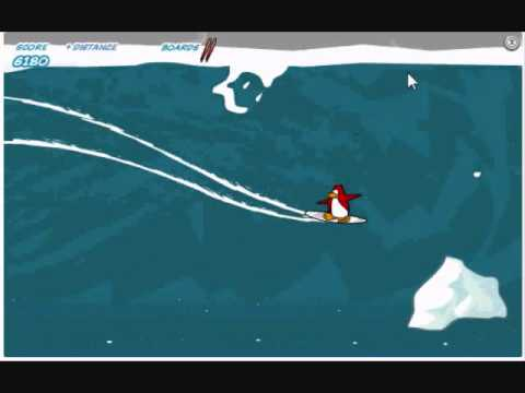 Club Penguin Catching Waves Survival Mode