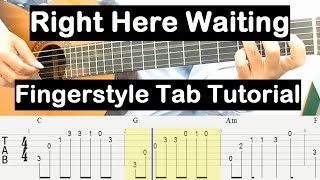 Right Here Waiting Guitar Lesson Fingerstyle Tab Tutorial Guitar Lessons for Beginners