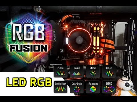 🔥 How to use the GIGABYTE RGB FUSION - RGB LED