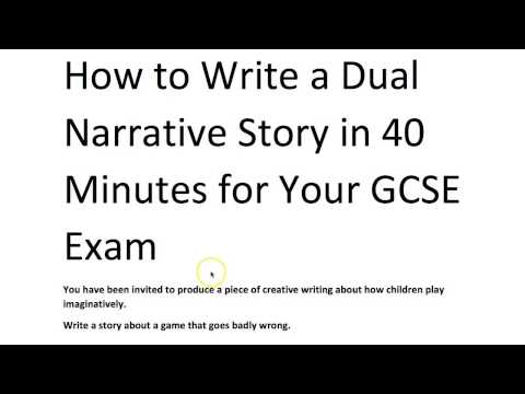 How to Write a Dual Narrative Short Story, with Grade 9 Mode