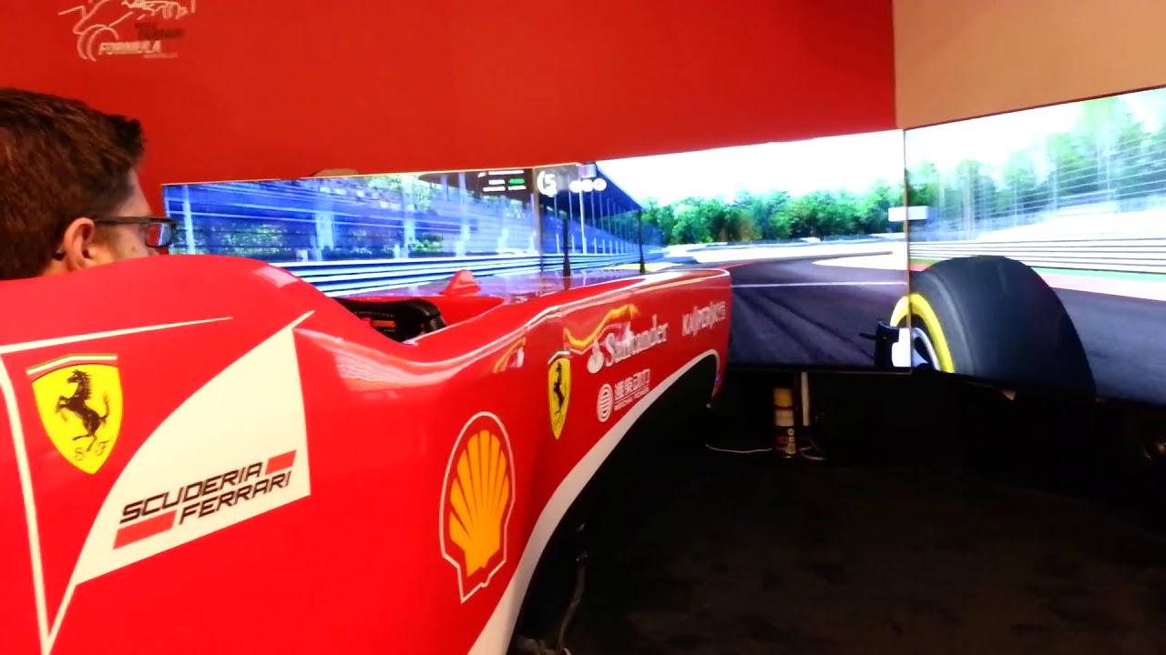 formula 1 simulator at ferrari museum maranello - youtube