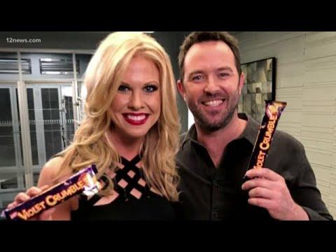 Krystel Henderson surprises Sullivan Stapleton with sweets