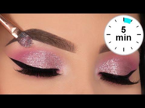 5 MINUTE Glitter Eye Makeup Tutorial   Prom Eye Makeup