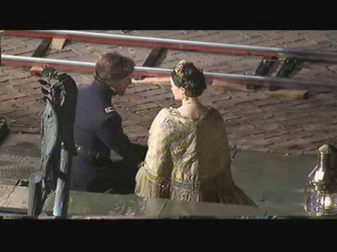 James McAvoy and Alexis Bledel kiss on the set of The Conspirator