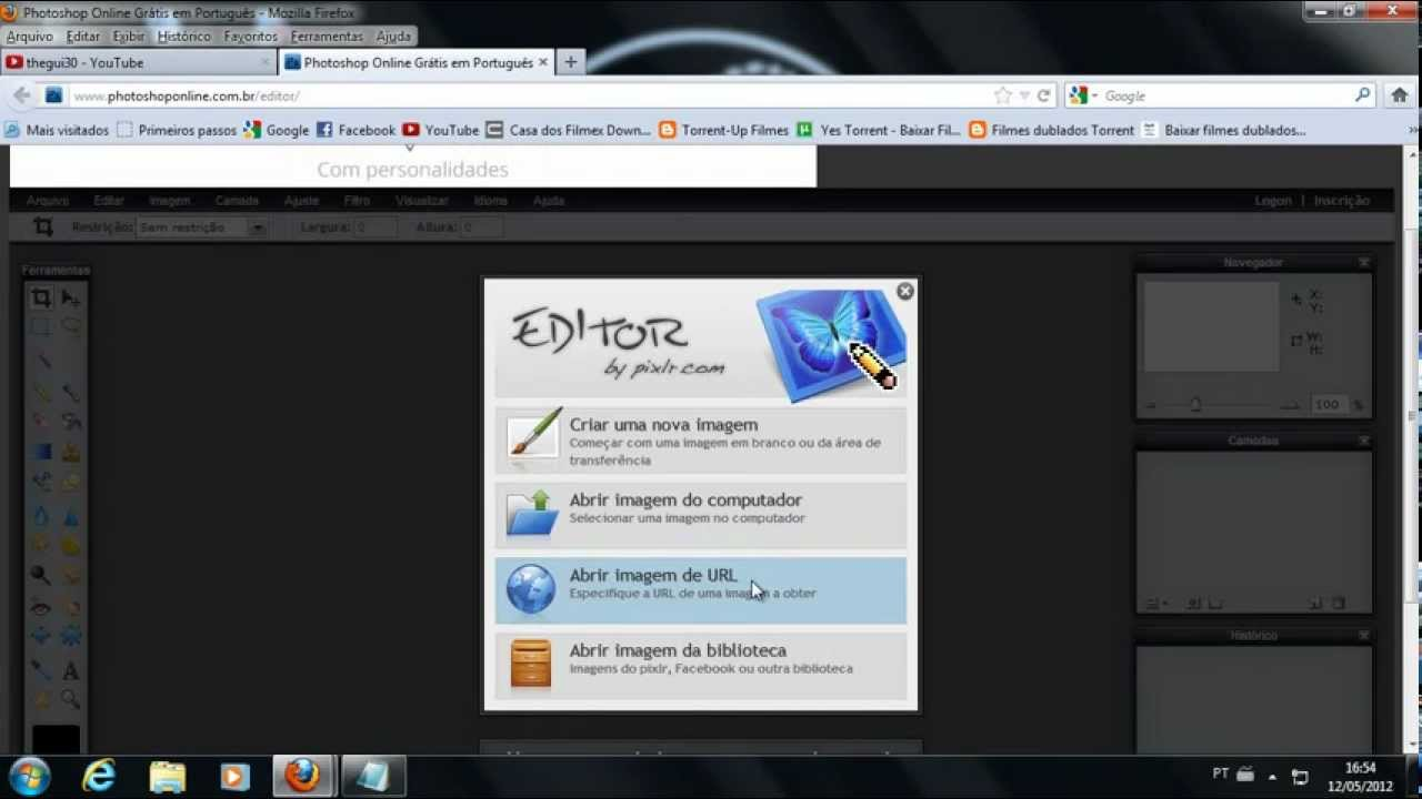Como utilizar o Photoshop Cs6 Online 2012  YouTube