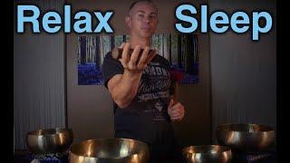 Qi Gong Relaxation Meditation - Healing Sleep ASMR - Tibetan Singing Bowls