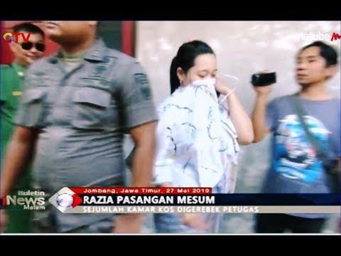 4 Pasangan Mesum Dalam Kamar Kos Digerebek Satpol PP Jombang - BIM 27/05