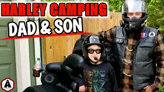 Camping With My Son on our HARLEY DAVIDSON at Wild River State Park