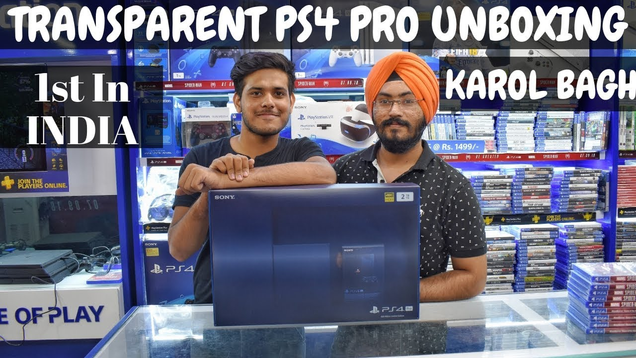 PS4 PRO 500 MILLION LIMITED EDITION UNBOXING, SETUP FROM KAROL BAGH IN  INDIA