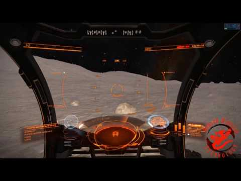 Elite Dangerous SRV Exploration on Glitched Moon with Floating Rocks and Lots of Tumbling