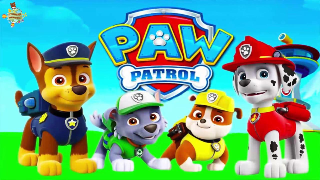 Oyuncak Dunyasi Paw Patrol Cizgi Filmi Renklendirme Boyama Oyunu