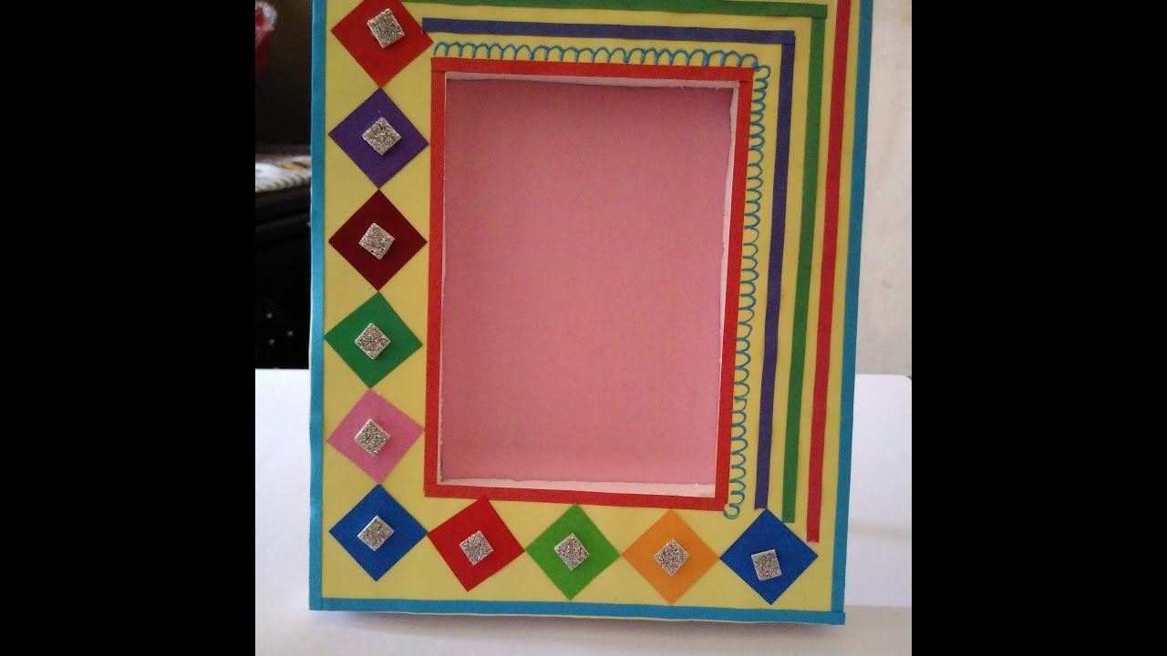 HOW TO MAKE HANDMADE PHOTO FRAME || BEAUTIFUL PHOTO FRAME || MAKE ...